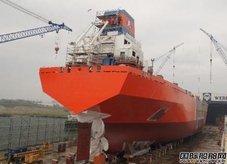 德国Neptun Werft船厂一艘LNG船命名