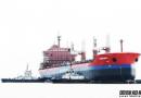 振华重工一艘35000吨散货船下水