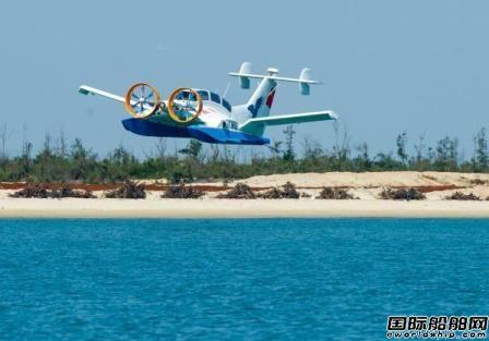 中国地效翼船在海南首次实现双船试飞