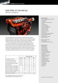 斯堪尼亚发动机 SCANIA DI09070M_300 Hp@1800 rpm