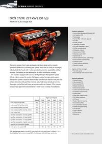 斯堪尼亚发动机 SCANIA DI09072M_300 Hp@2100 rpm
