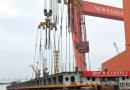 新扬子造船一艘82000吨散货船上船台