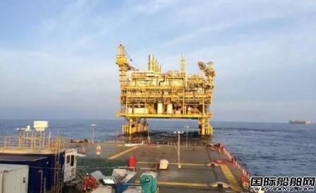 """""""海洋石油278"""" 完成CKX组块浮托安装项目"""