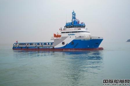 太平洋造船交付三艘SPP17A平台供应船