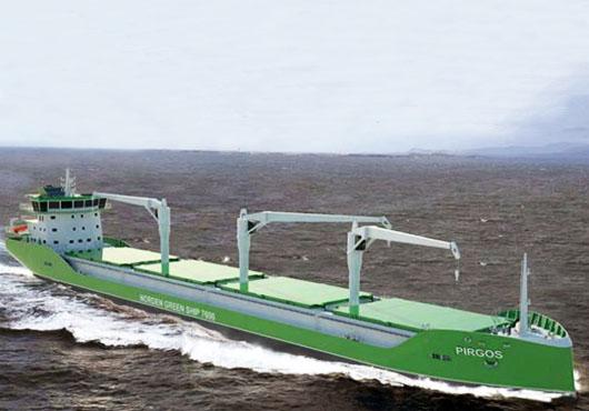 """安润船舶建造的""""M/V Pirgos""""号绿色货船"""