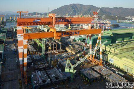 韩国船企一季度接单量仅为9艘