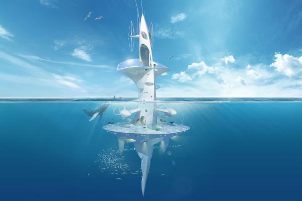 """法国海洋研究船""""SeaOrbiter""""号"""