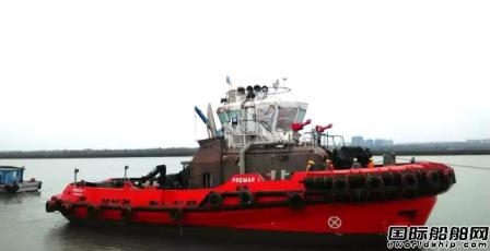 广东新船重工两艘32米80吨拖轮下水
