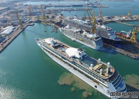 Navantia修船厂正服务维修4艘邮船