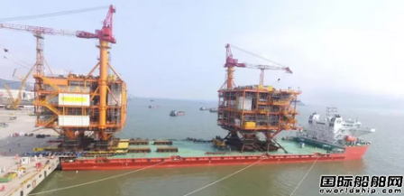 中海油恩平SPMT装船项目顺利实施