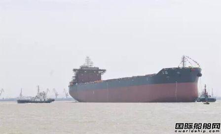 新扬子造船一船下水一船上船台