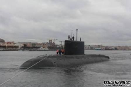 俄罗斯海军黑海舰队第六艘柴电潜艇下水