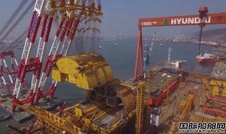 现代重工蔚山船厂因罢工暂时关闭