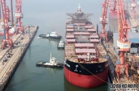 渤船21万吨散货船9号船提前实现下水节点