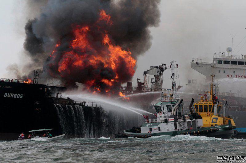 墨西哥国油失火油轮火势扑灭