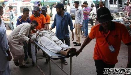 巴基斯坦一拆船厂爆炸致14死59伤
