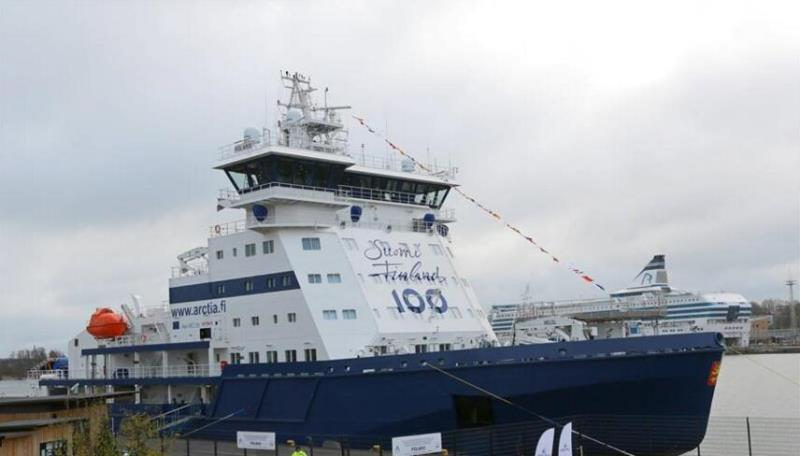 世界首艘液化天然气破冰船开始服役