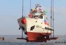 增洲造船一艘100吨级渔政船下水