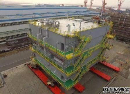 大船船务又交付一座海工电气模块