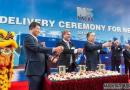 南通中远川崎再交全球最大双燃料汽车船