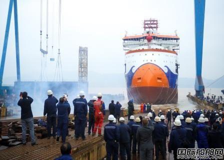 浙江造船全球首制抛石船下水