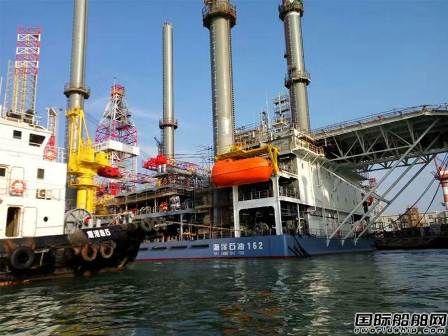 中集来福士海洋石油162倾斜试验顺利完成
