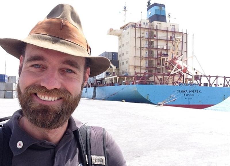 丹麦男子欲成乘集装箱船环球第一人