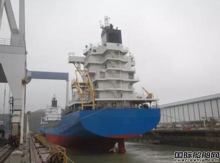 舟山常石造船一艘1020TEU集装箱船下水