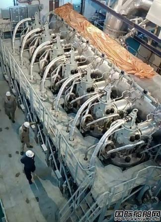 外高桥造船H1317船主机动车试验提交
