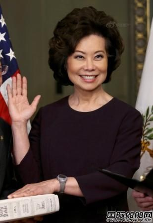 赵小兰正式就任美国运输部长