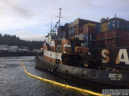 一艘拖船搁浅导致大量燃油泄漏