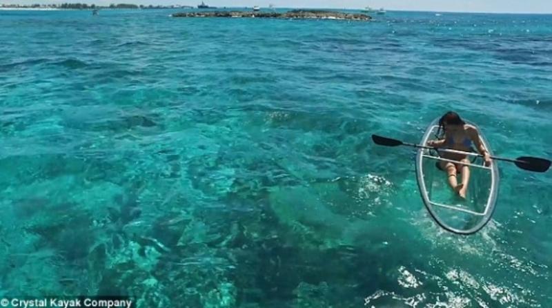 这样的全透明划艇你坐过吗?