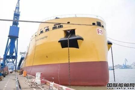 沪东中华交付第3艘38000吨化学品船