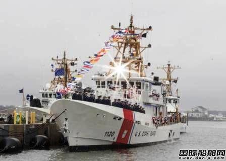 美国海岸警卫队第20艘快速响应巡逻艇服役