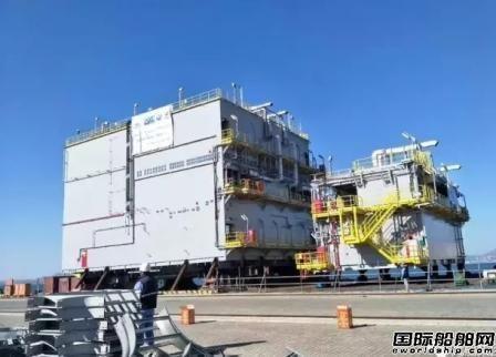 大船船务FPSO上部电气模块P77模块交付