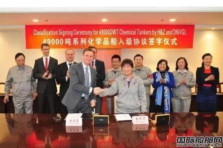 沪东中华4艘49000吨化学品船入级DNV GL