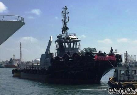 中信造船建造台湾最大马力拖船下水