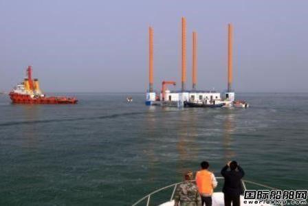 中国首个渔业多功能平台在山东长岛投用
