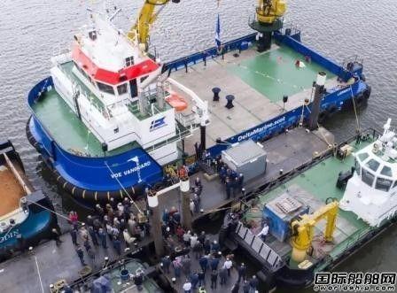 达门造船首艘可再生能源服务船出坞