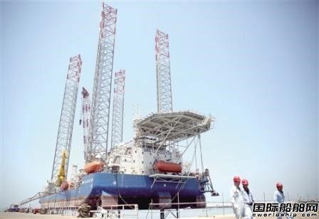武汉船机首座110米桁架式自升式平台发运