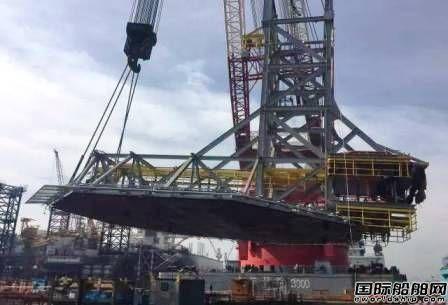 大连中远船务完成P77项目直升机平台吊装工程