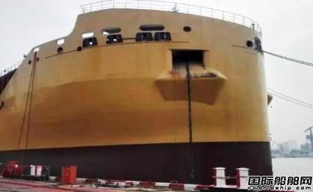 沪东中华38000吨化学品船进坞在即