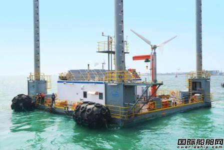 中集来福士建造海洋牧场平台开始安装