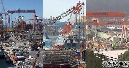 韩国船企接单量连续两月登顶