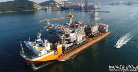 大宇造船交付27亿美元平台上部模块
