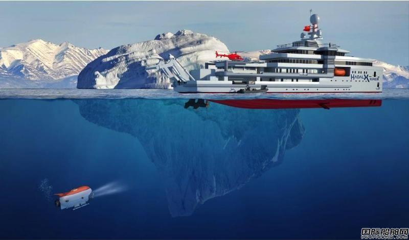 彩虹鱼建极地科考探险船