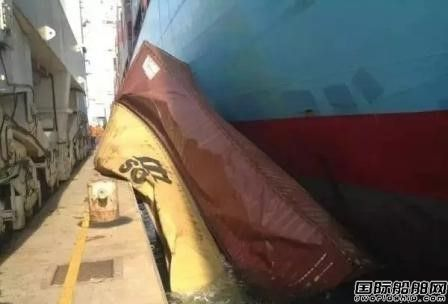 马士基一艘集装箱船发生装卸事故
