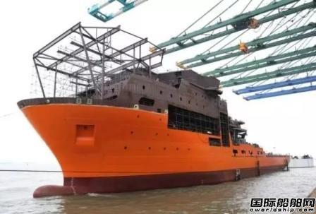 振华重工首艘饱和潜水支持船下水