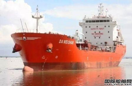 航通船业一艘7800吨沥青船试航