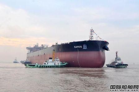 新时代造船两艘158000吨油船顺利下水